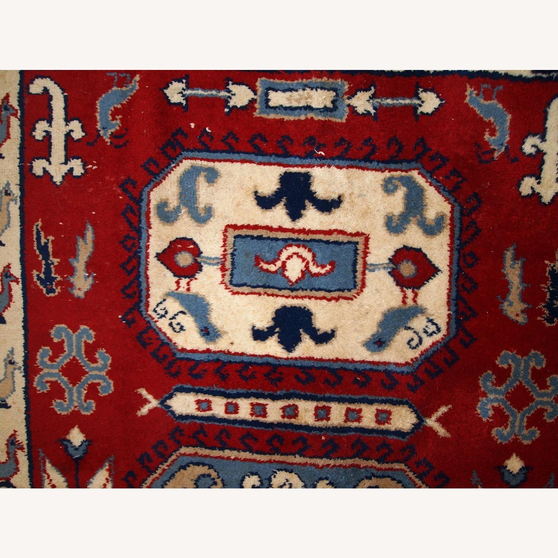 Handmade vintage Caucasian Kazak rug - image-8
