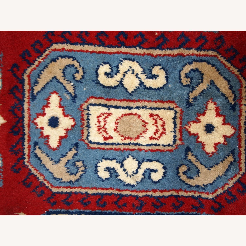 Handmade vintage Caucasian Kazak rug - image-6