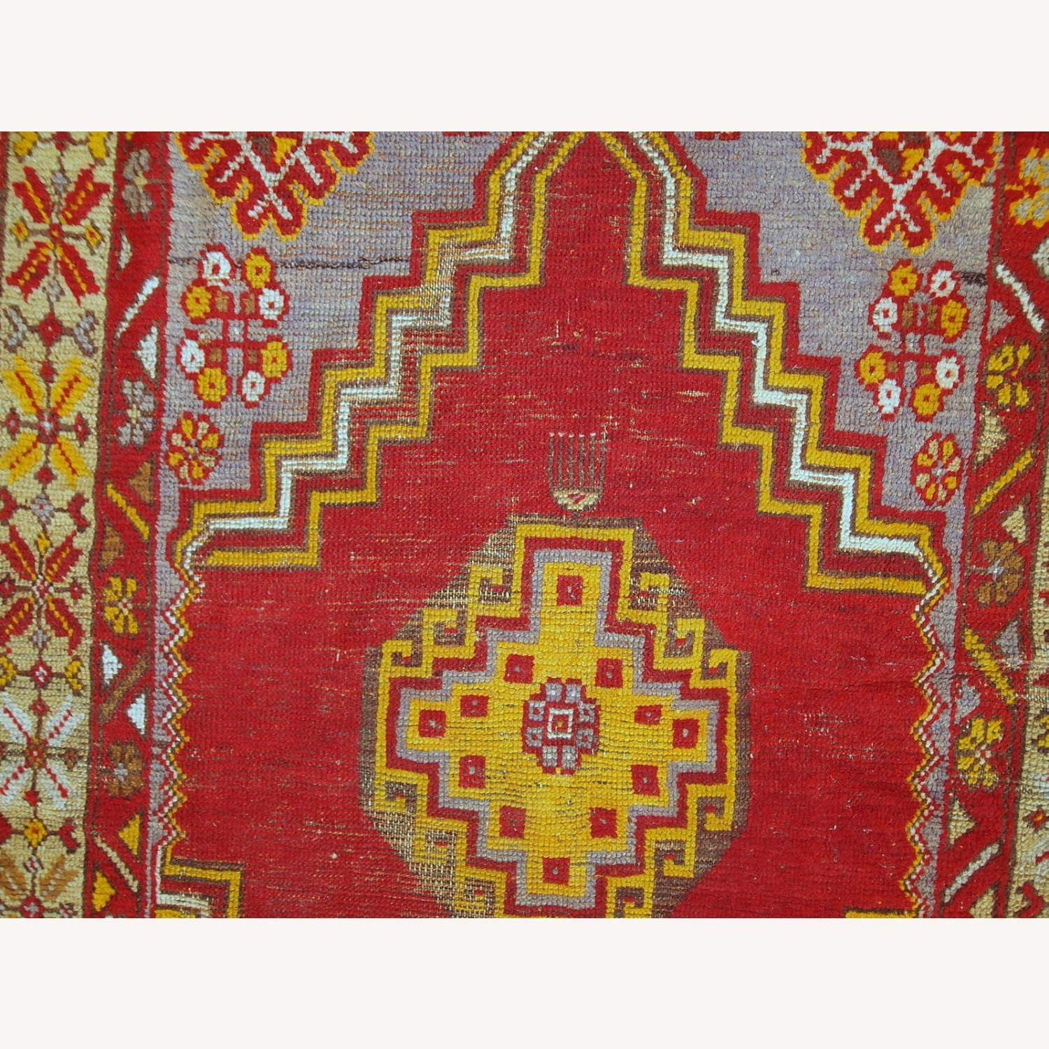 Handmade Antique Turkish Anatolian Rug - image-10