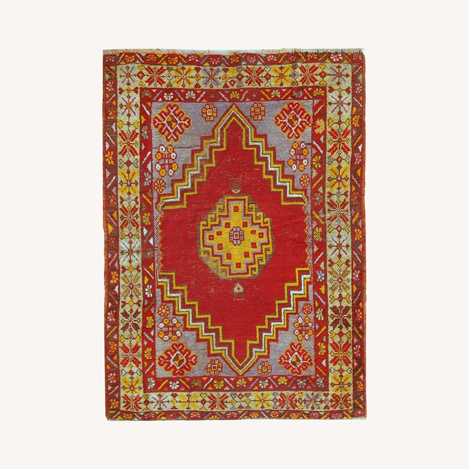 Handmade Antique Turkish Anatolian Rug - image-0