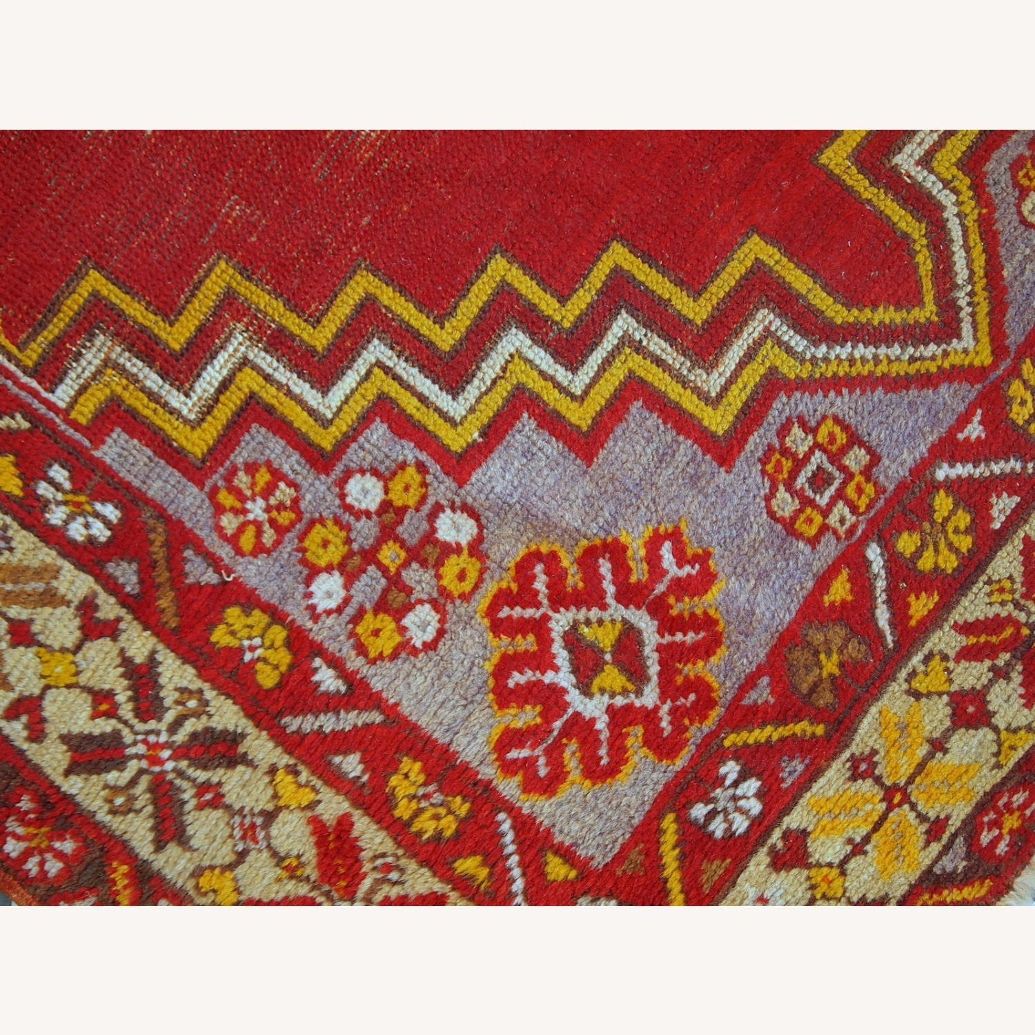Handmade Antique Turkish Anatolian Rug - image-8