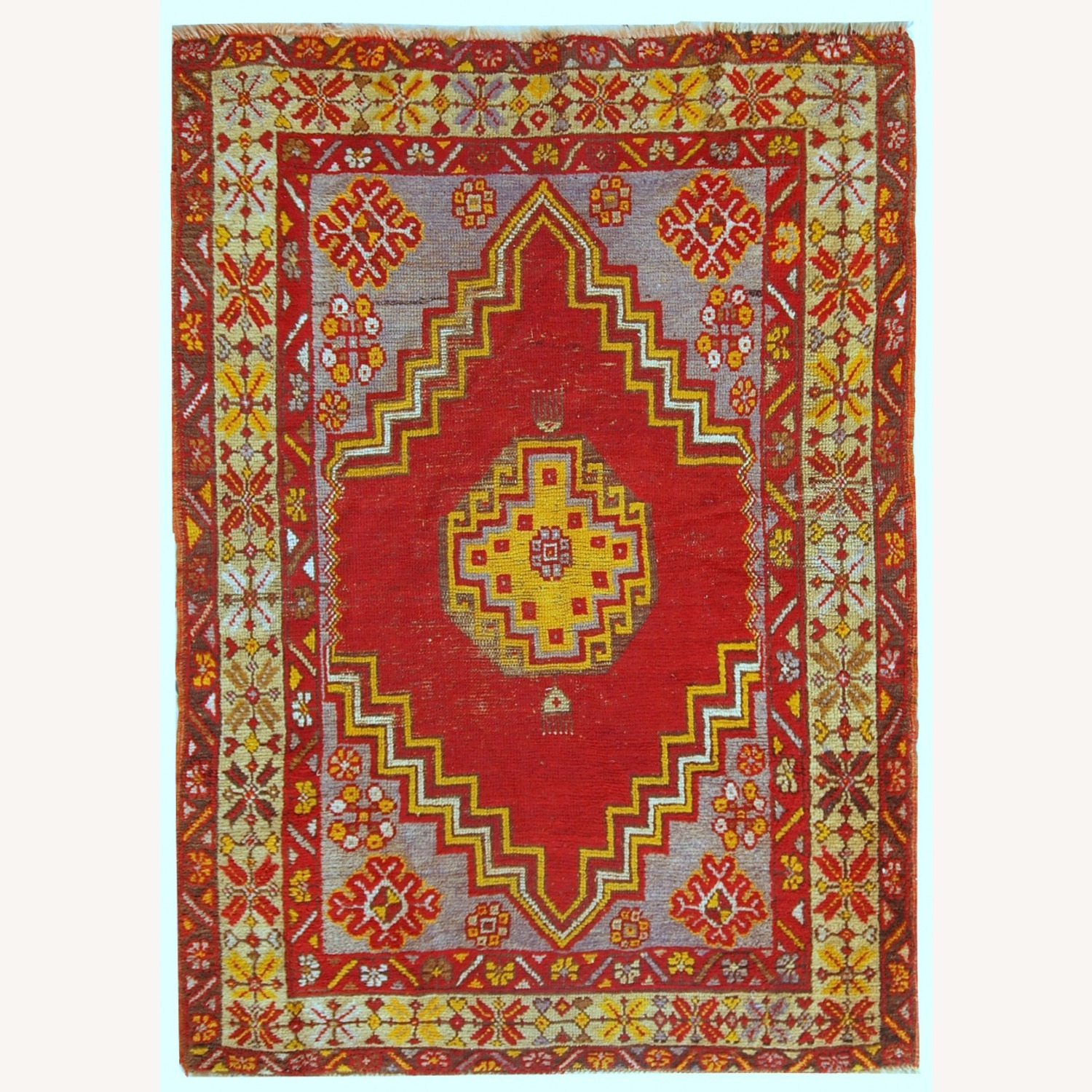 Handmade Antique Turkish Anatolian Rug - image-1