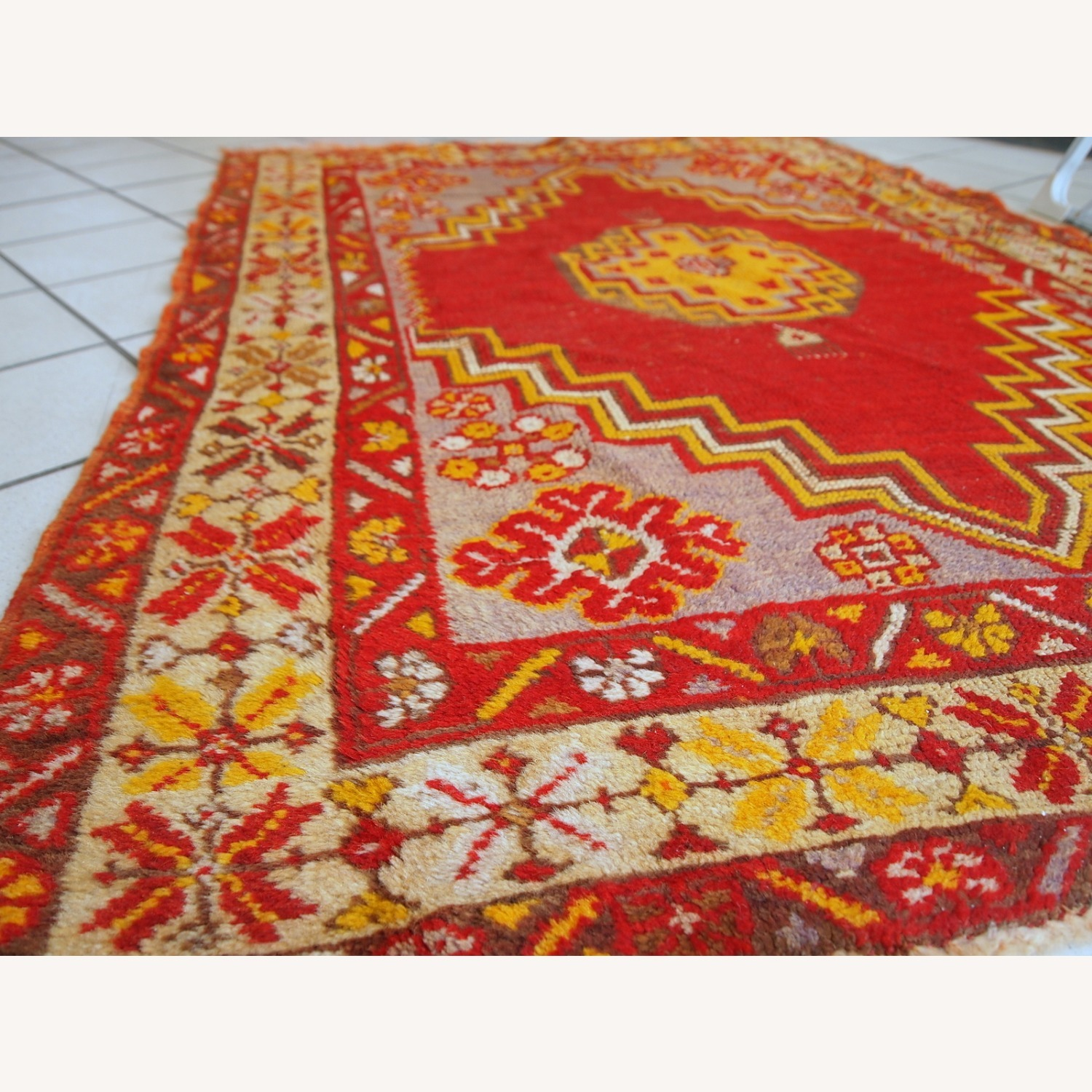 Handmade Antique Turkish Anatolian Rug - image-9