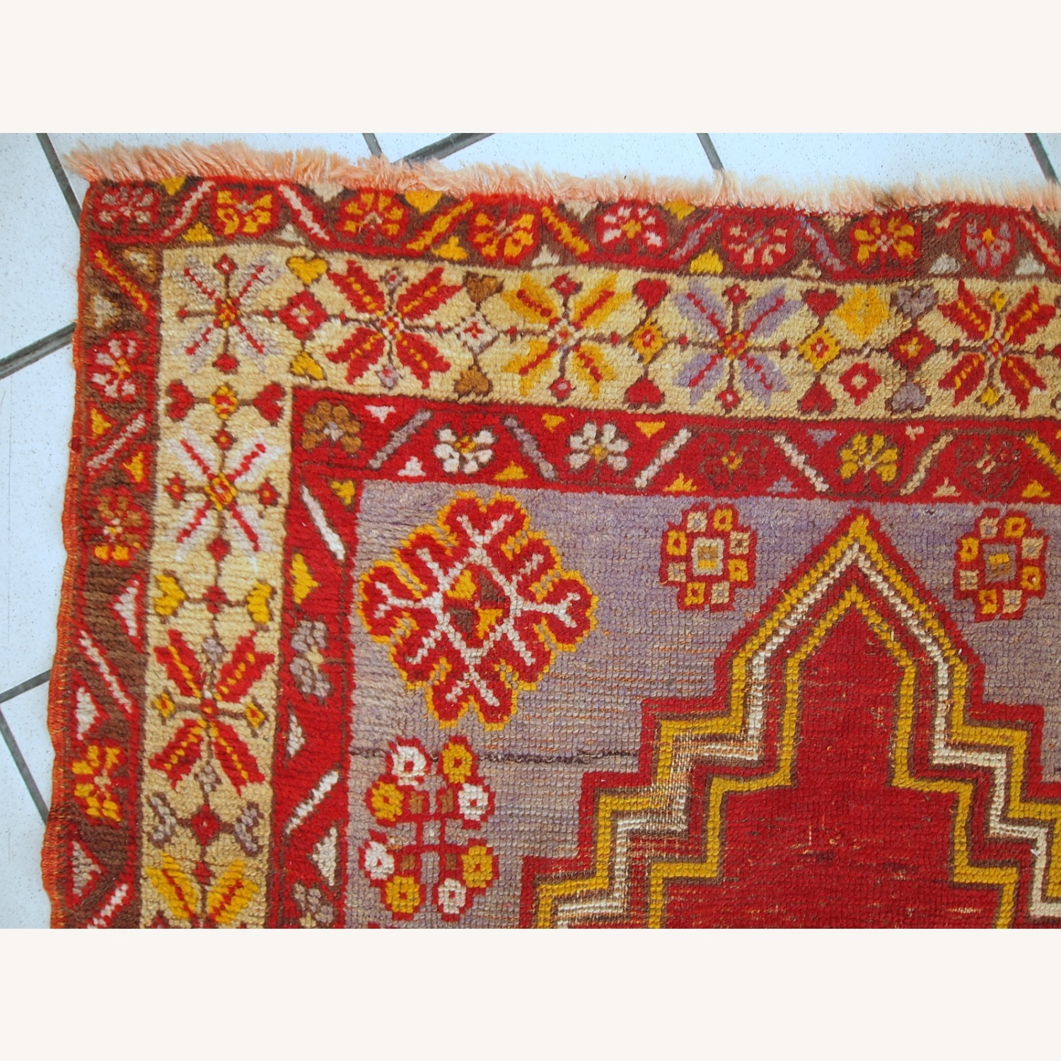 Handmade Antique Turkish Anatolian Rug - image-12