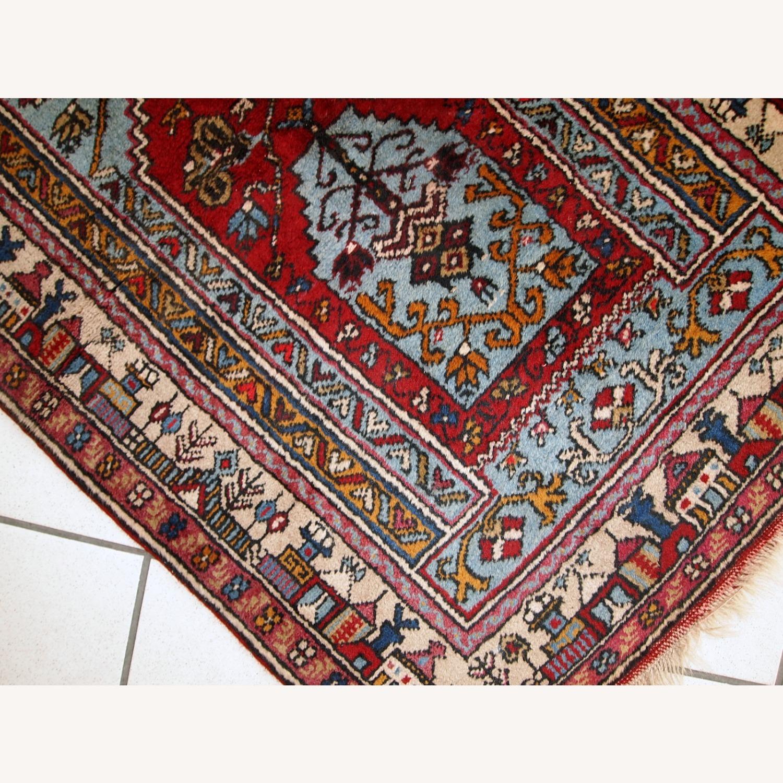 Handmade Vintage Prayer Turkish Konya Rug - image-9