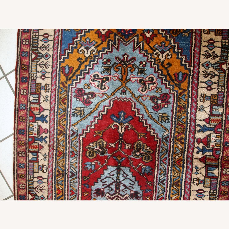 Handmade Vintage Prayer Turkish Konya Rug - image-7