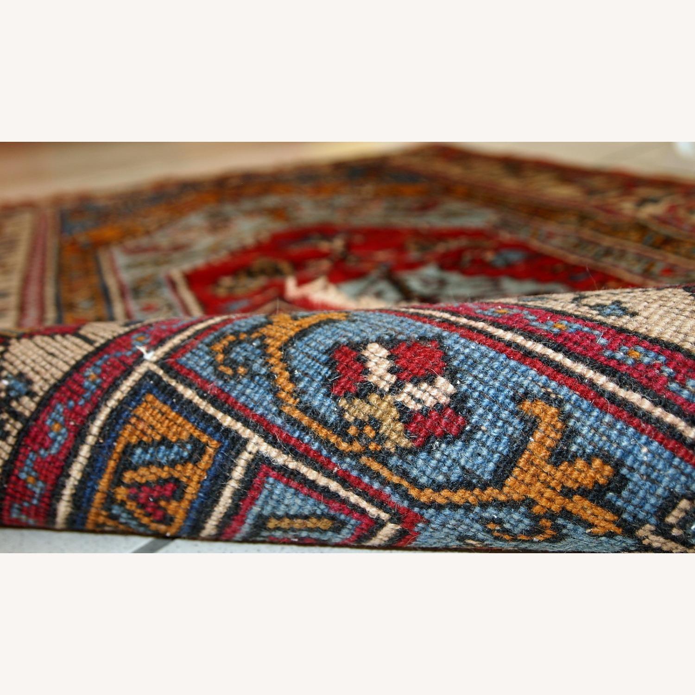 Handmade Vintage Prayer Turkish Konya Rug - image-11