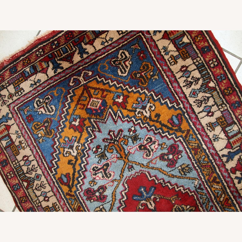Handmade Vintage Prayer Turkish Konya Rug - image-8