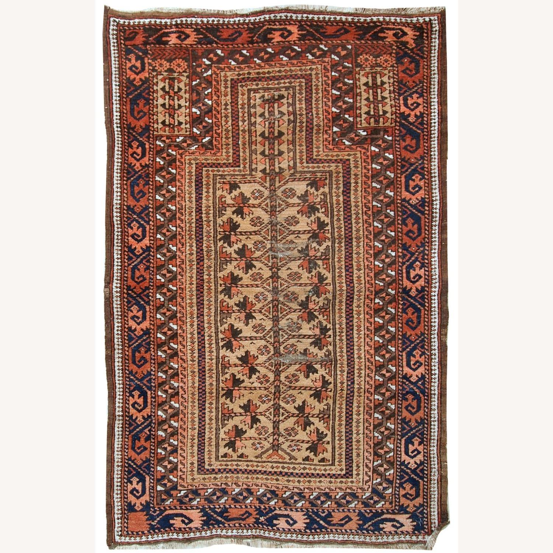 Handmade antique Afghan Baluch prayer rug - image-1
