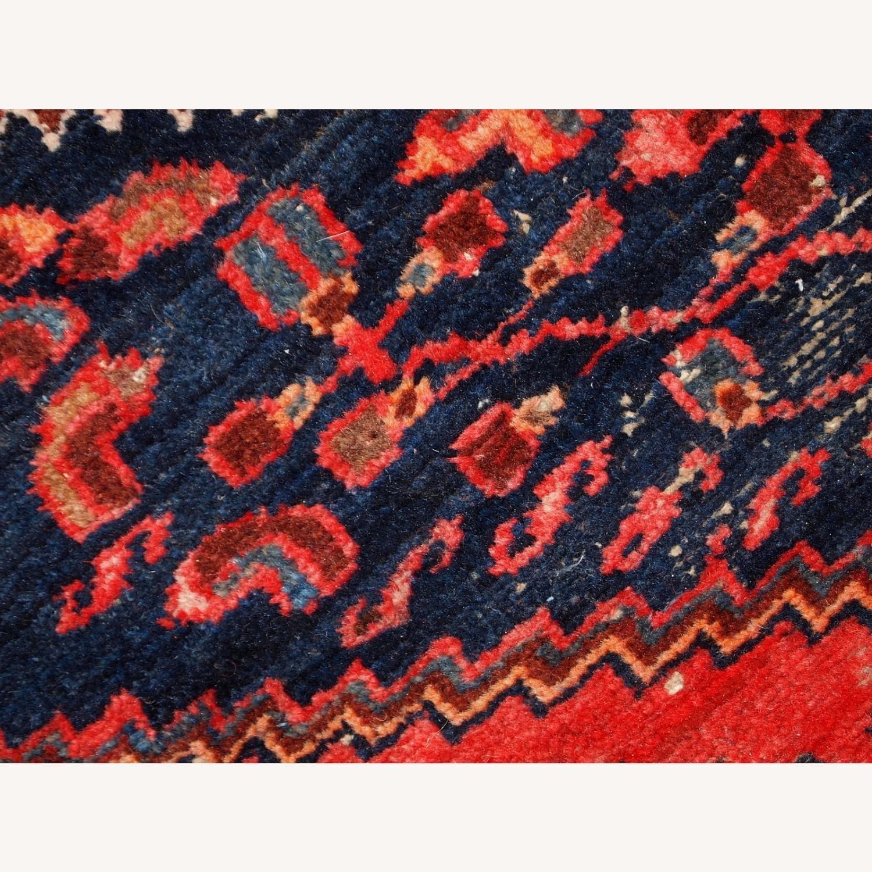 Handmade vintage Persian Hamadan rug - image-4