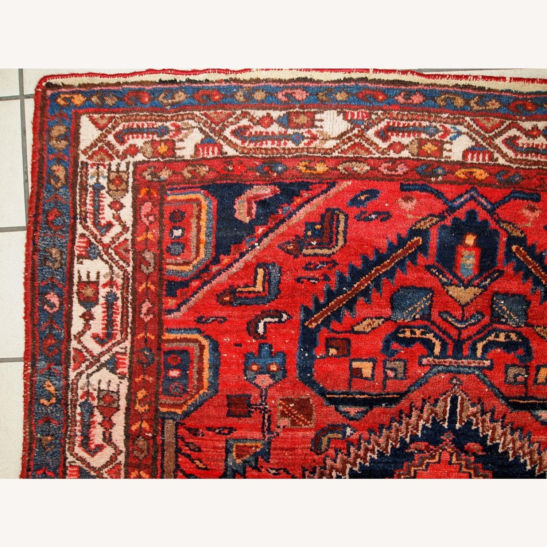 Handmade vintage Persian Hamadan rug - image-8