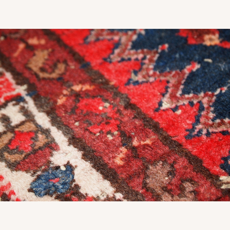 Handmade vintage Persian Hamadan rug - image-3