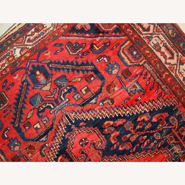 Handmade vintage Persian Hamadan rug - image-5