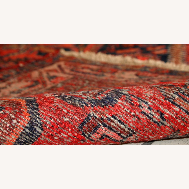 Handmade vintage Persian Hamadan rug - image-12