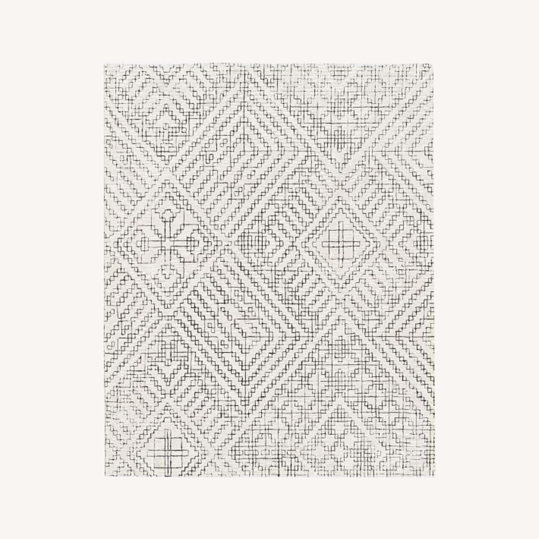 West Elm Stone Tile Rug, Slate - image-0