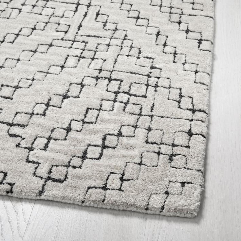 West Elm Stone Tile Rug, Slate - image-3