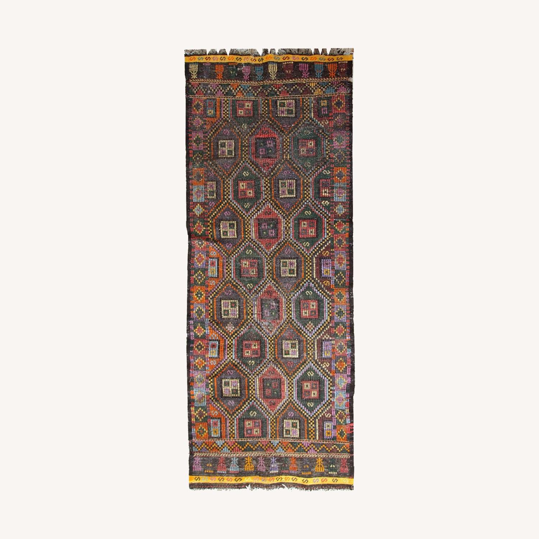 Handmade antique Tunisian flat-weave kilim - image-0