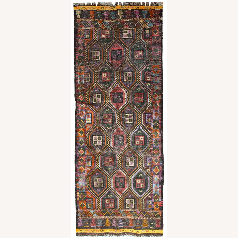 Handmade antique Tunisian flat-weave kilim - image-1