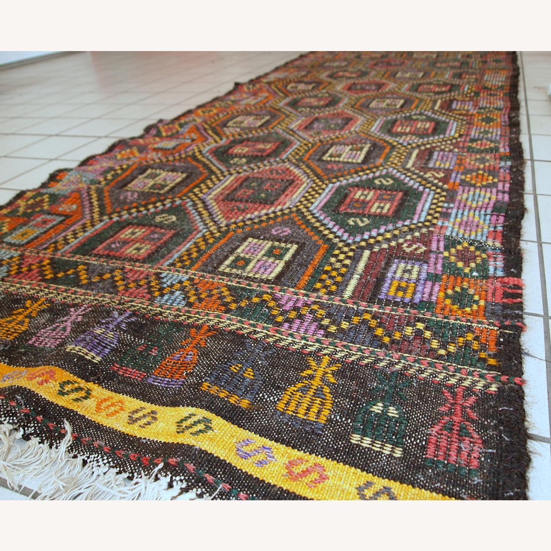 Handmade antique Tunisian flat-weave kilim - image-4