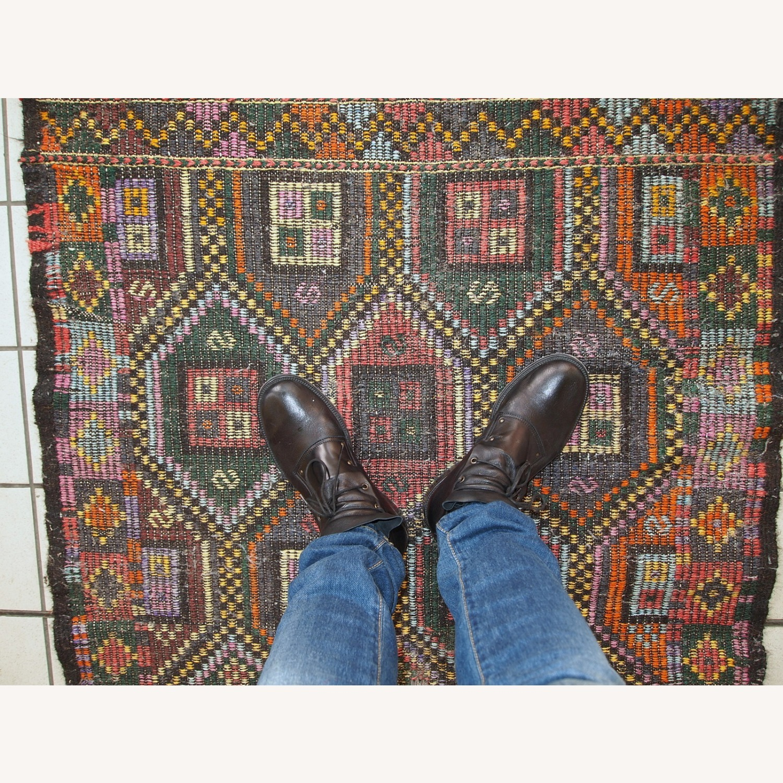 Handmade antique Tunisian flat-weave kilim - image-9