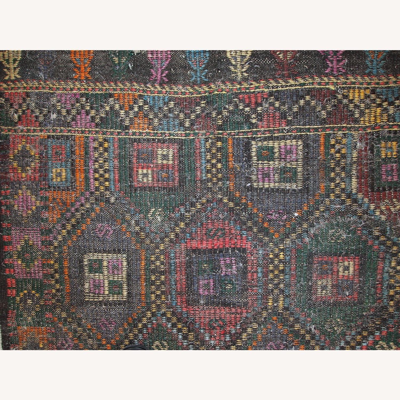 Handmade antique Tunisian flat-weave kilim - image-10