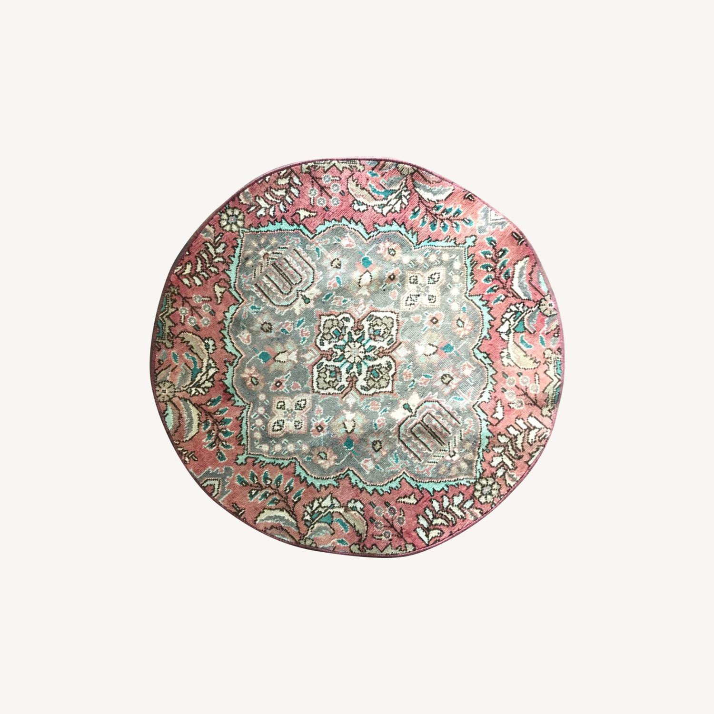 Round Vintage Persian Rug - image-0