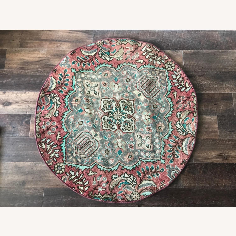 Round Vintage Persian Rug - image-2