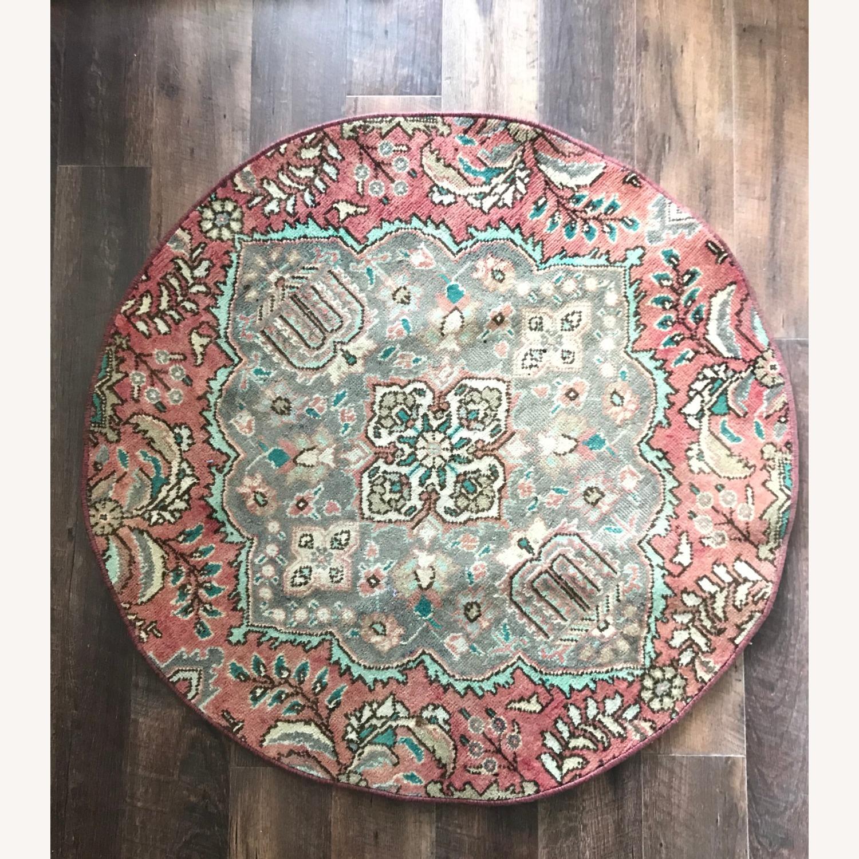 Round Vintage Persian Rug - image-1