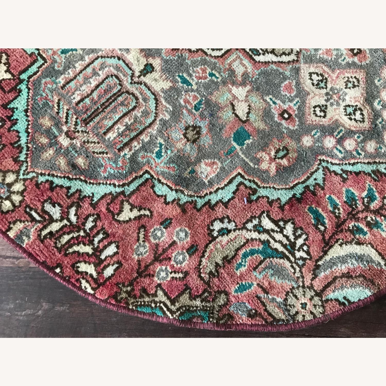 Round Vintage Persian Rug - image-4