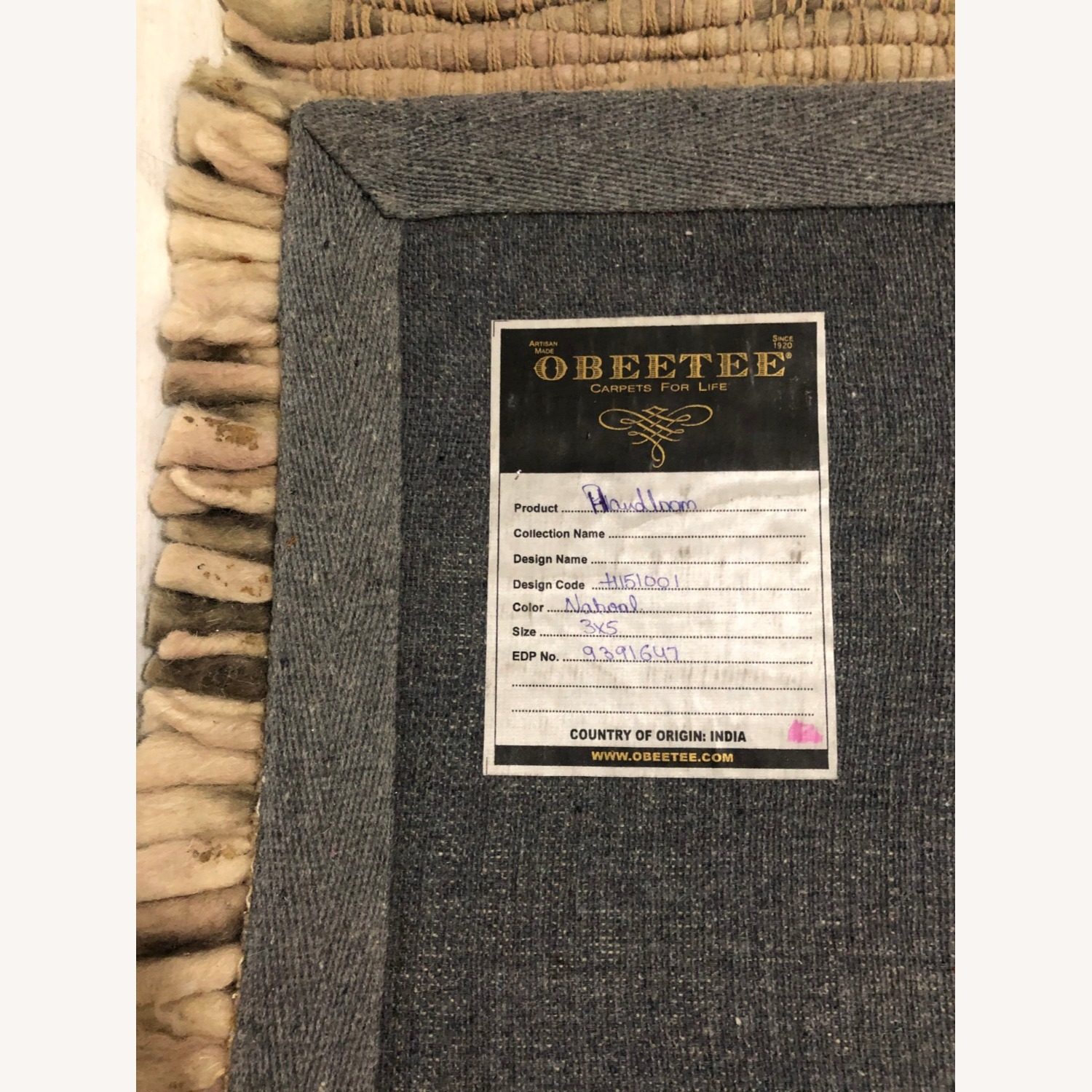 Obeetee Natural Handwoven Rug - image-4
