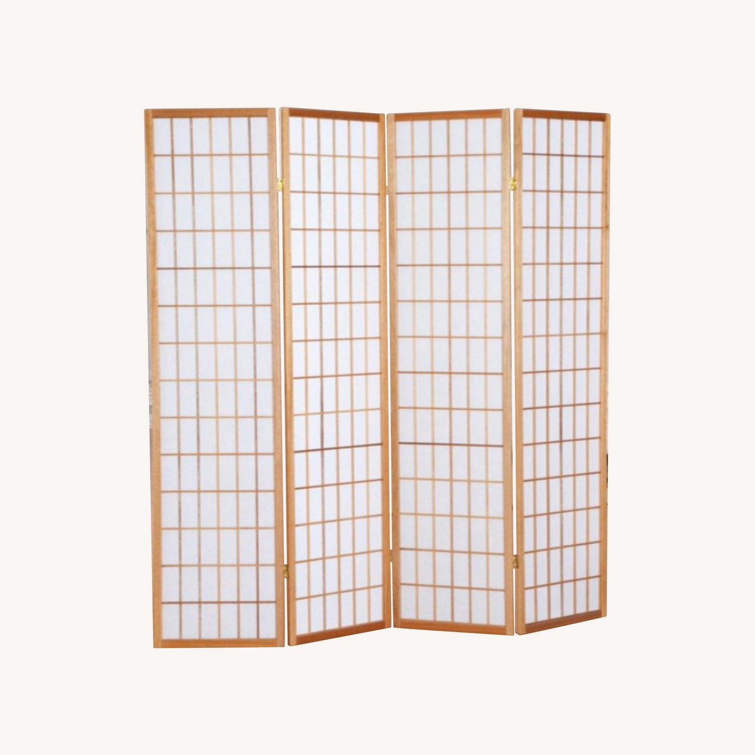 Jakun 4 Panel Shoji Room Divider with Stand - image-0