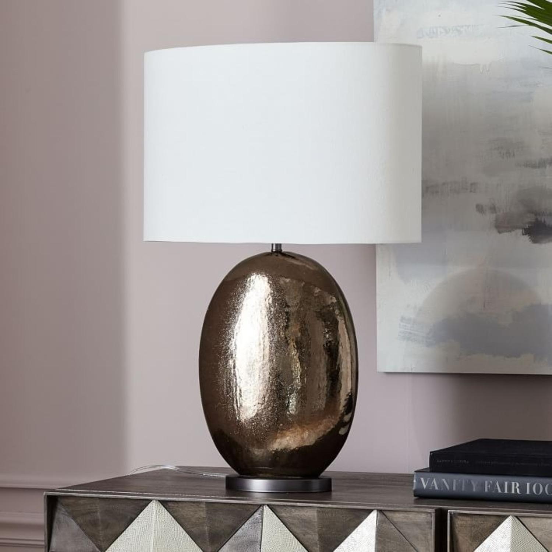 West Elm Pebble Ceramic Table Lamp - image-3
