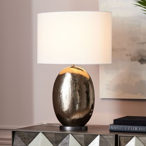 Used West Elm Pebble Ceramic Table Lamp for sale on AptDeco