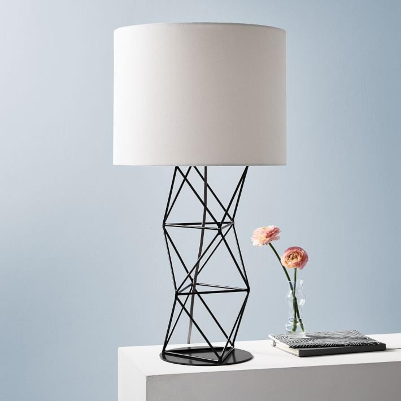 West Elm Amigo Modern Octahedron Table Lamp - image-3