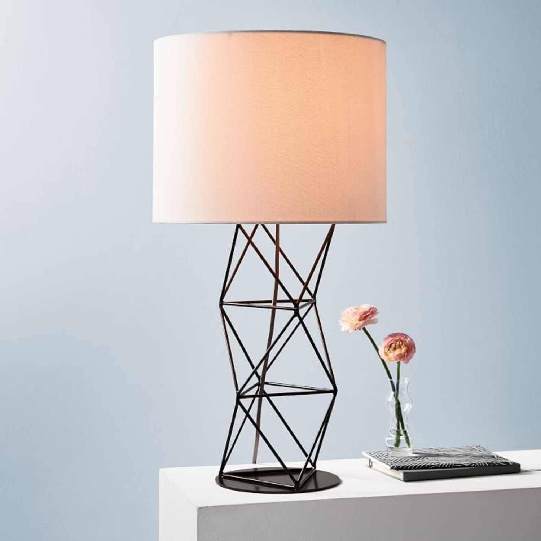 West Elm Amigo Modern Octahedron Table Lamp - image-1
