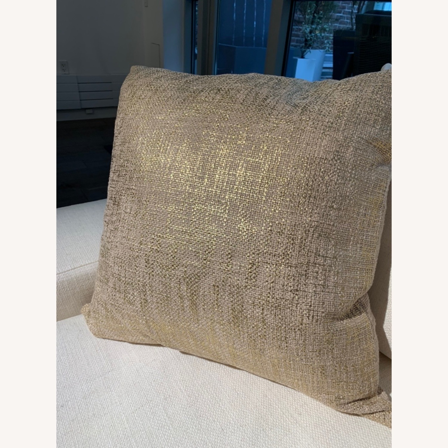 CB2 Glitterati Accent Pillows - Gold - image-2