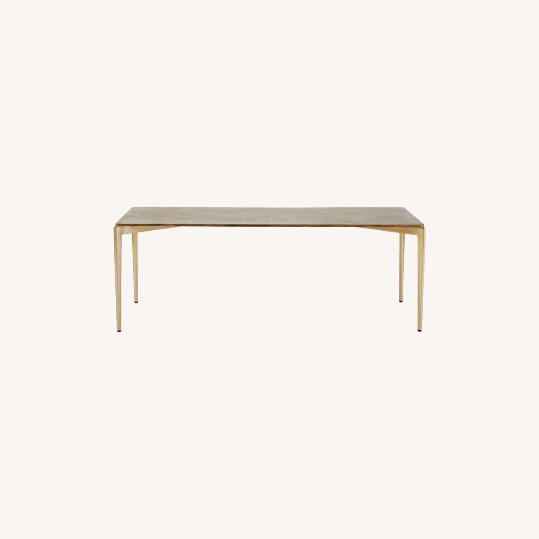West Elm Textured Metal Coffee Table - image-0