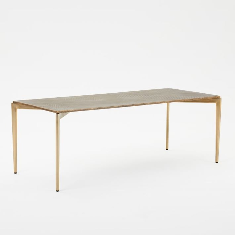 West Elm Textured Metal Coffee Table - image-1