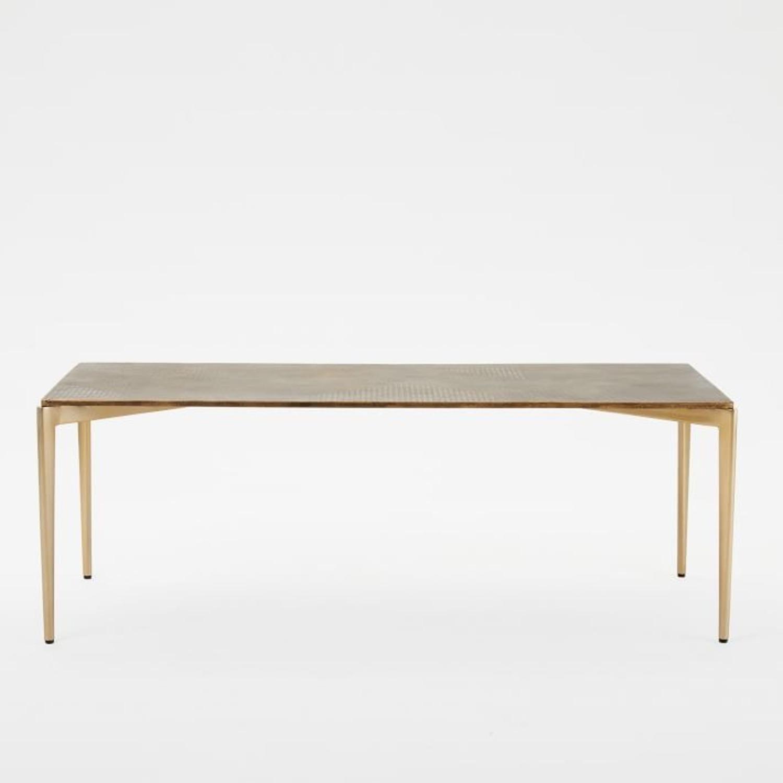 West Elm Textured Metal Coffee Table - image-2