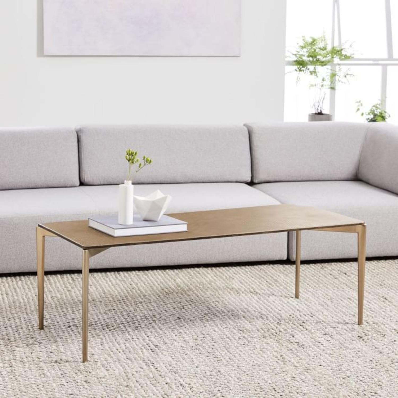 West Elm Textured Metal Coffee Table - image-3
