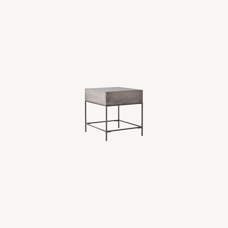 West Elm Industrial Storage Side Table - image-0