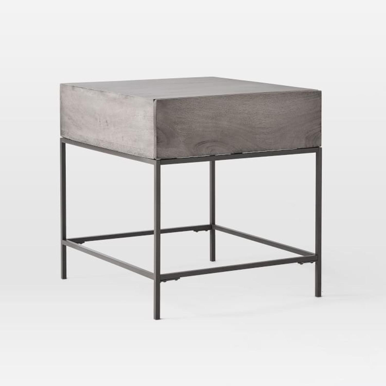 West Elm Industrial Storage Side Table - image-2