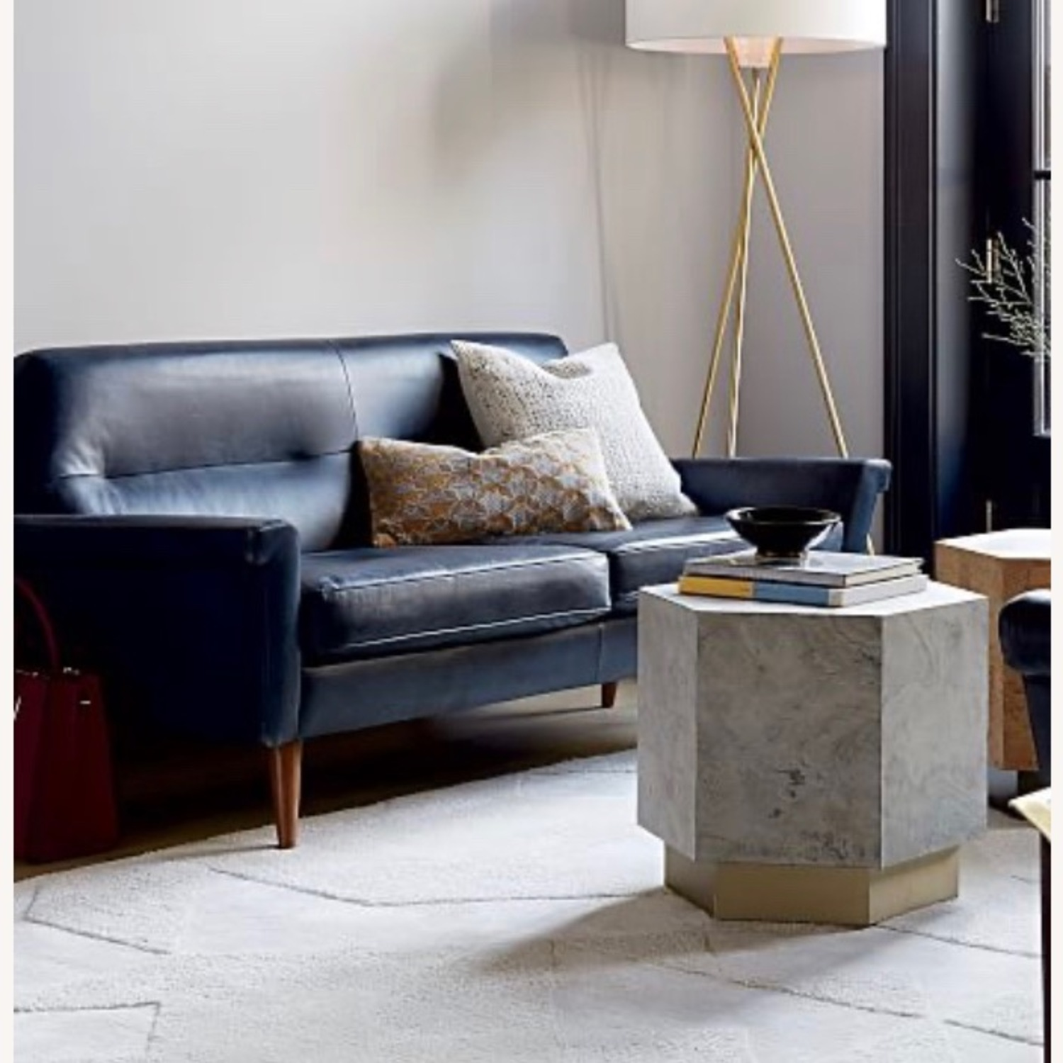 West Elm Leather 2-Seater Sofa - image-2