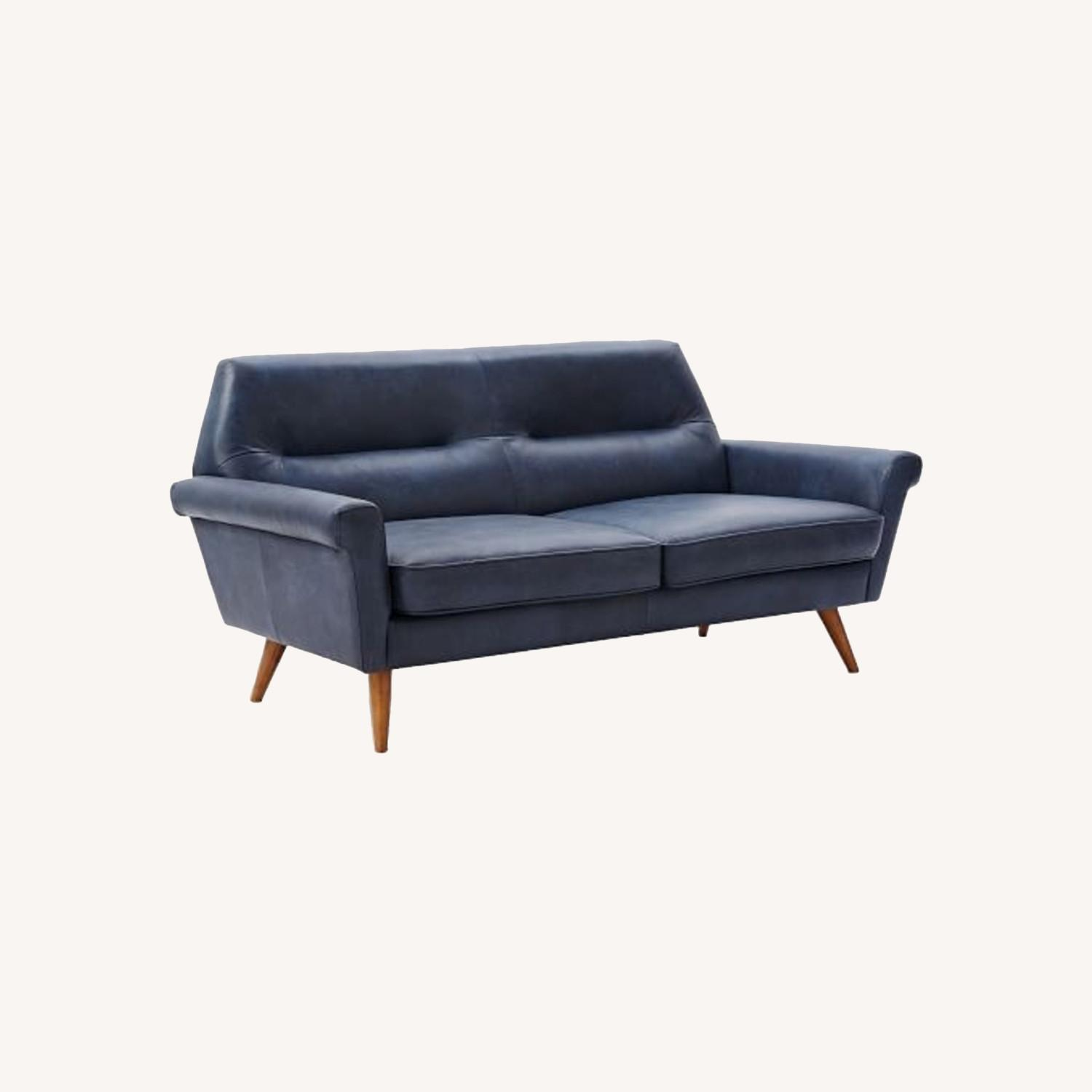 West Elm Leather 2-Seater Sofa - image-0