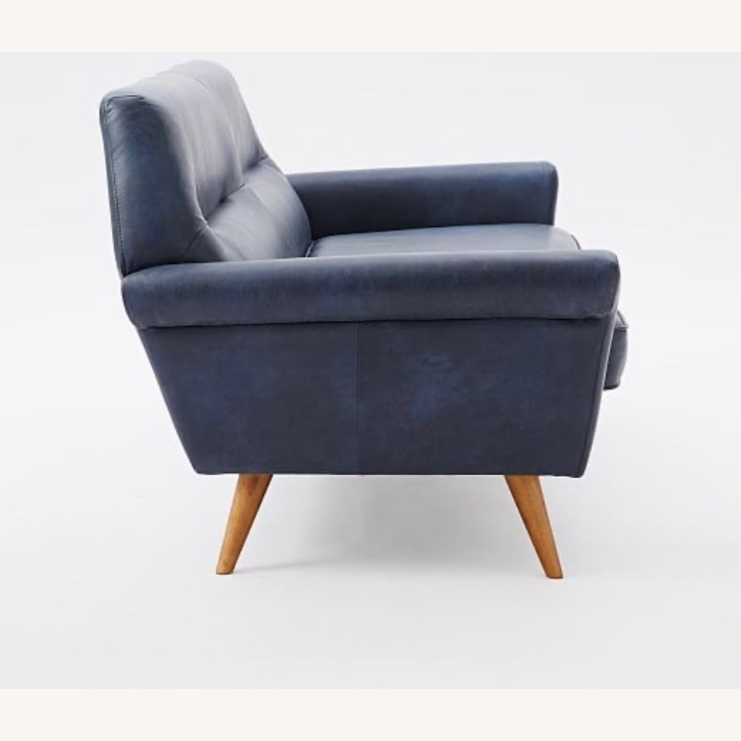 West Elm Leather 2-Seater Sofa - image-3