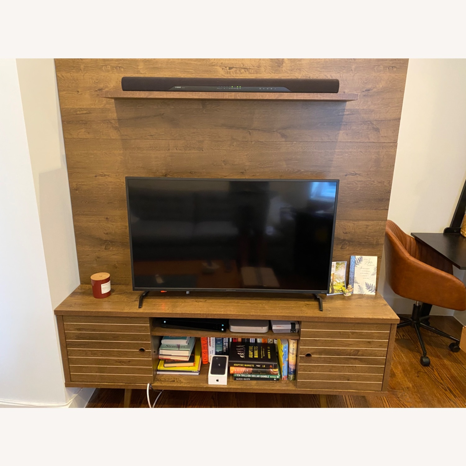 Wayfair Entertainment Center w/ TV Cable Mgmt - image-1