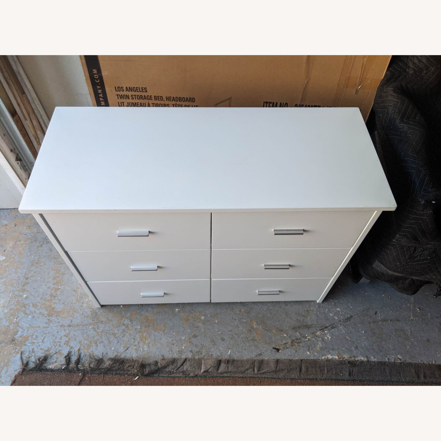 6-Drawer Storage Unit in White Finish - image-3