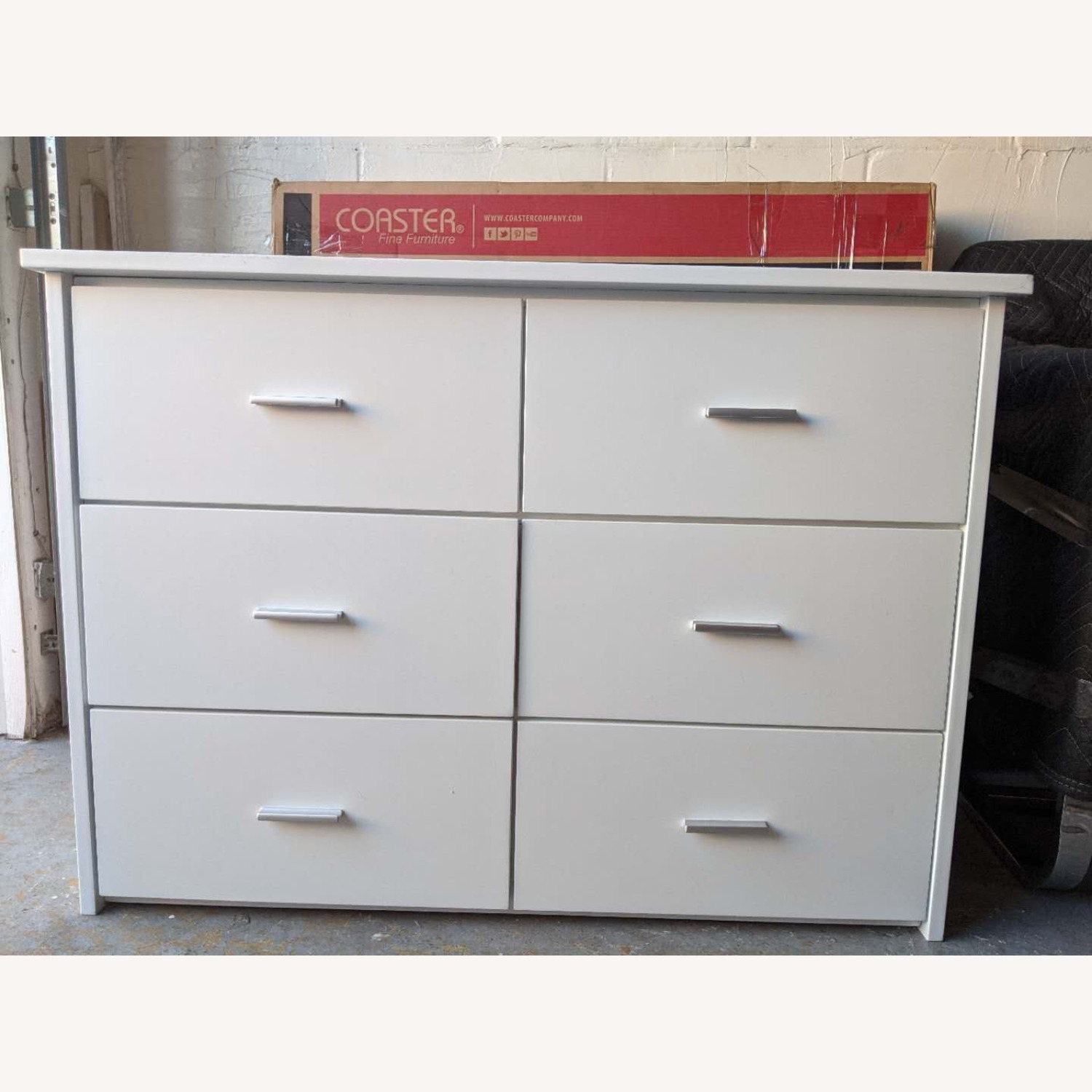 6-Drawer Storage Unit in White Finish - image-1