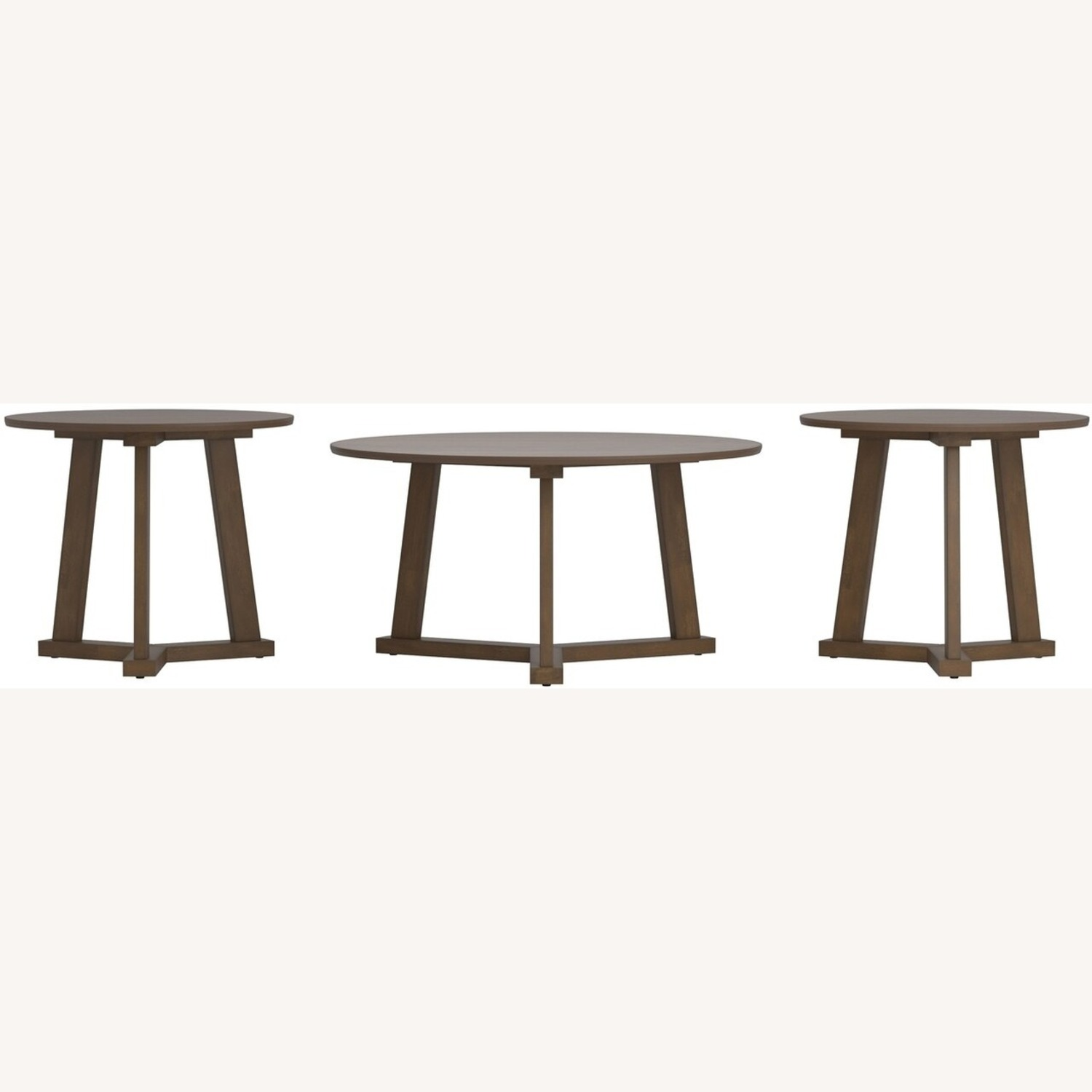 Versitile 3-Piece Occasional Set In Natural Walnut - image-2