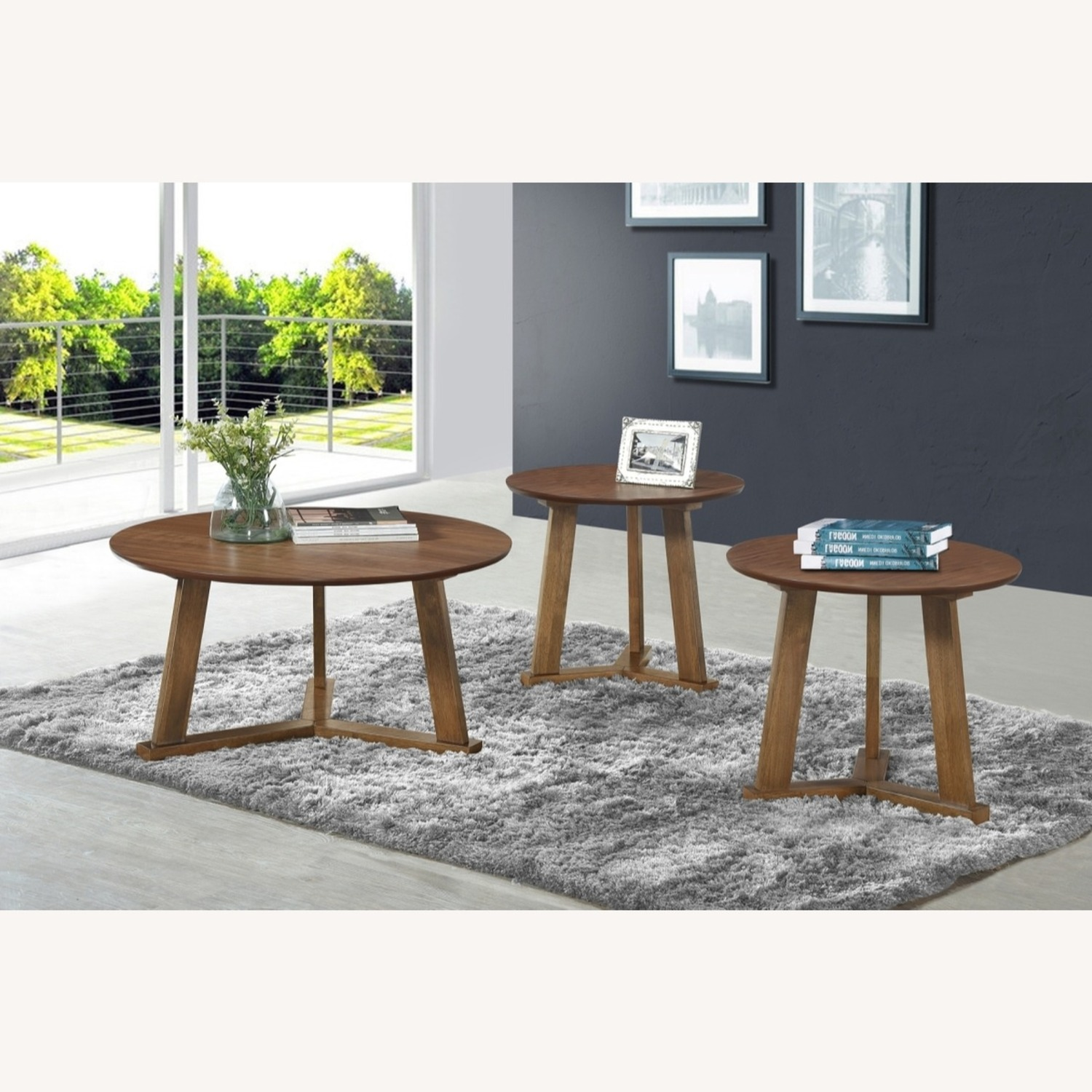 Versitile 3-Piece Occasional Set In Natural Walnut - image-3